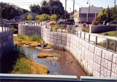 Alhambra Creek Restoration Using Recycled Materials