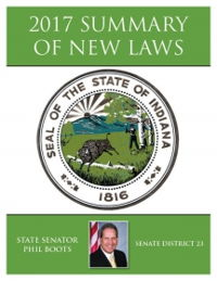2017 Summary of New Laws - Sen. Boots
