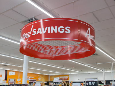 Overhead Department Halo Discount Store