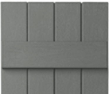 OPTIONAL BOARD & BATTEN SHUTTER - GRAY