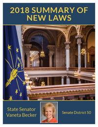 2018 Summary of New Laws - Sen. Becker