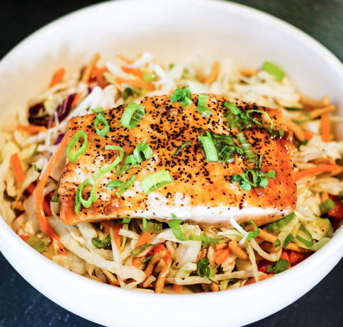 Asian Sesame Salmon Salad