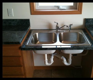 LOWERED KITCHEN SINK