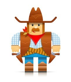 cartoon-cowboy illustration