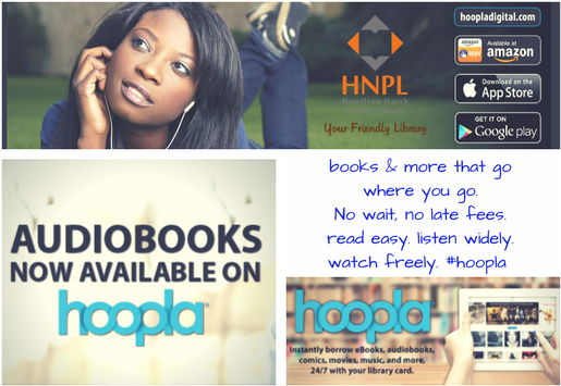 Save Money, Save Time. Thousands of eBooks, eAudio, & more available via hoopla or Overdrive