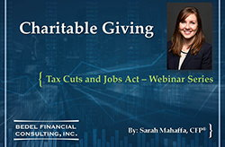 Tax Cuts and Jobs Act Series - #6: Charitable Giving