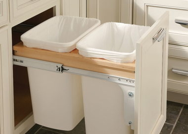 DOUBLE BASE WASTE BASKET TOP MOUNT