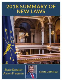 2018 Summary of New Laws - Sen. Freeman