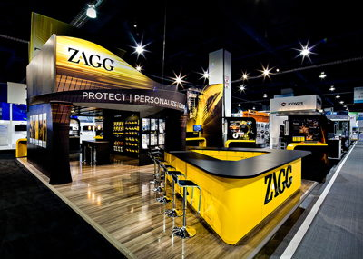 Large Zagg Tradeshow Booth
