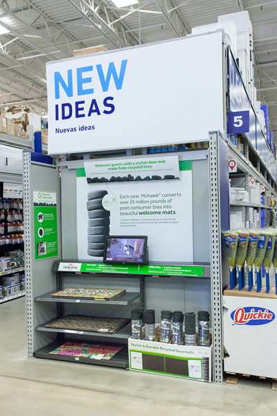 New Ideas End Cap with Interactive Display