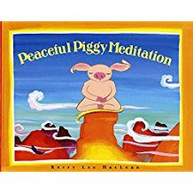 book cover peaceful piggy meditation