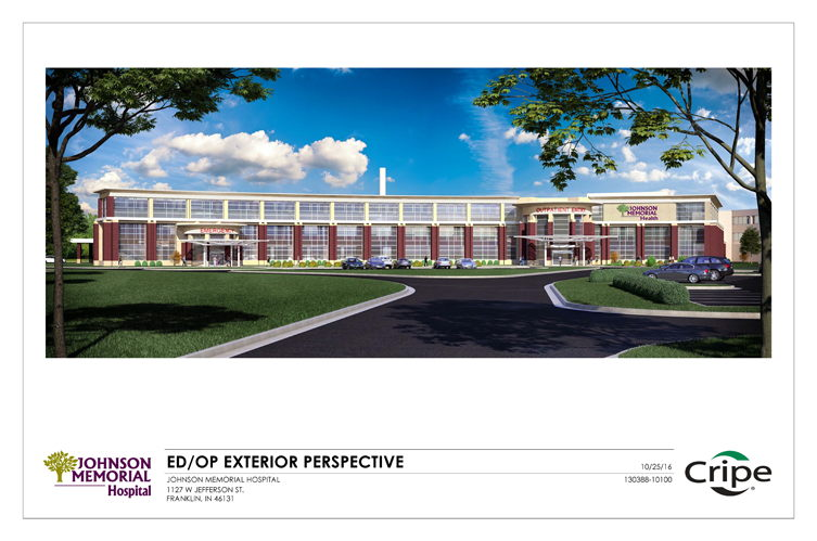 Rendering of Exterior Future Emergency/Outpatient Services Facility