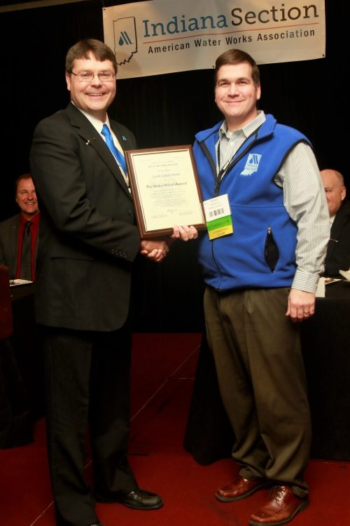 Dylan Lambermont Receives INAWWA Water Wheel Award