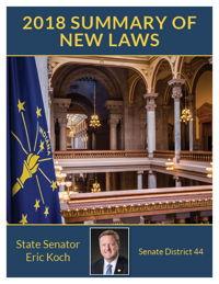 2018 Summary of New Laws - Sen. Koch