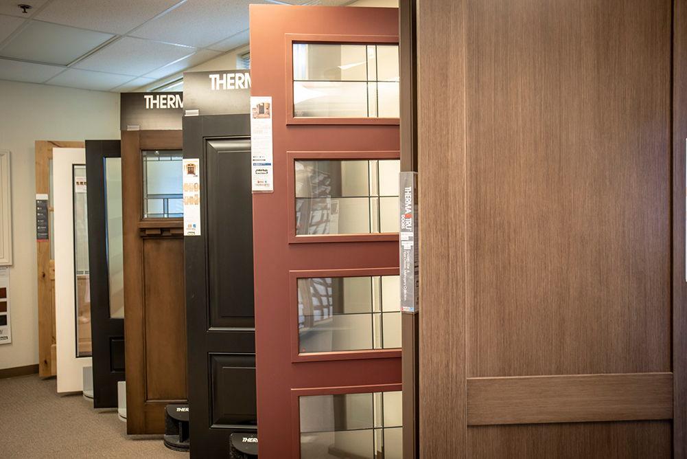 Display doors in shop