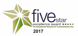 Five Star Excellence Award by Professional Research Consultants, Inc. for DeKalb Health's Inpatient OB Services