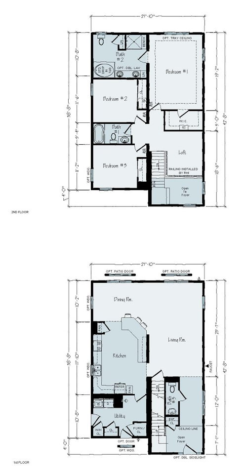 Floorplan of Lake Terrace