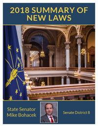 2018 Summary of New Laws - Sen. Bohacek