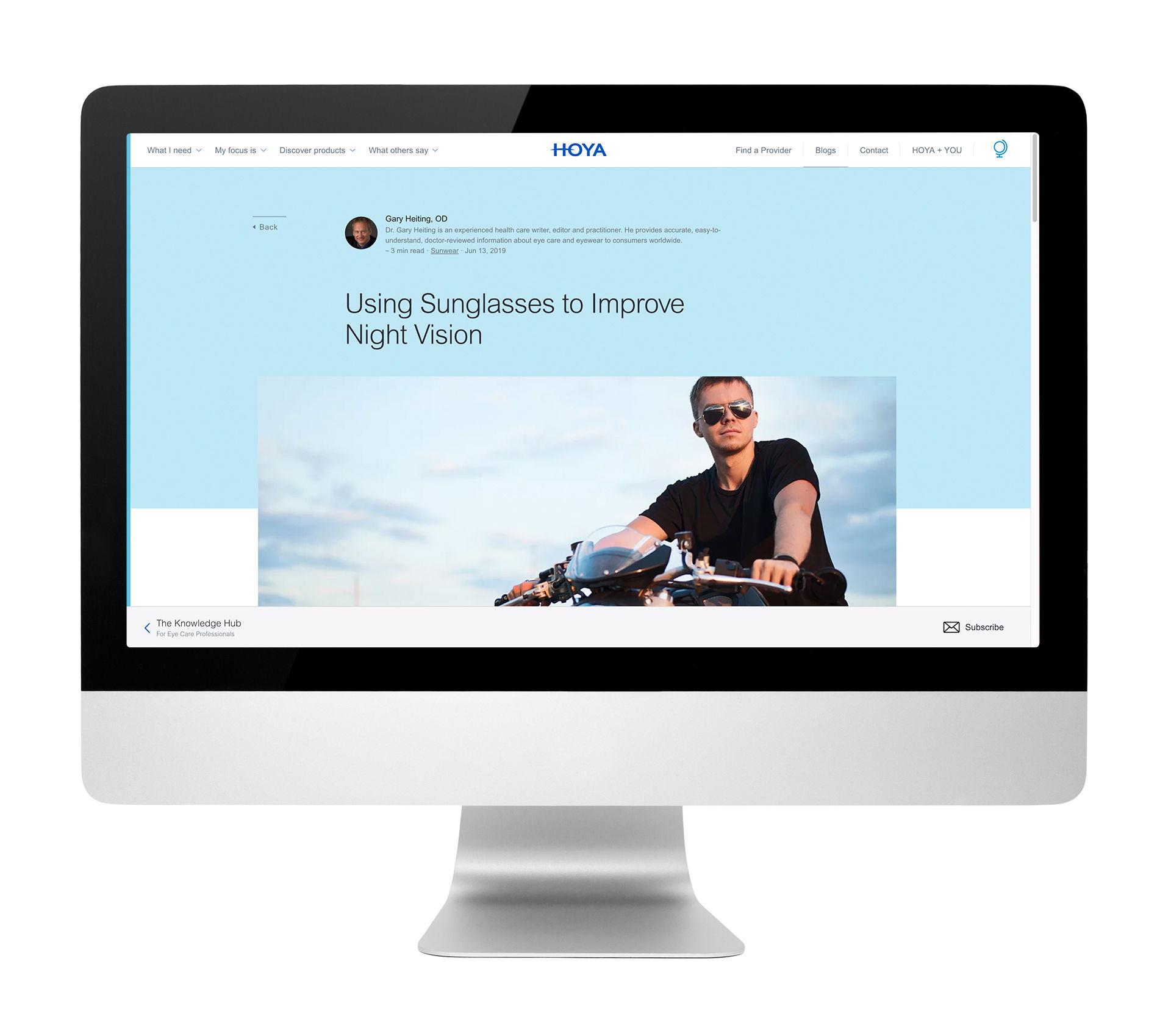 Hoya Blog Mockup
