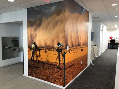 Non-Traditional Office Wall Graphics Dust Storm