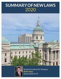 2020 Summary of New Laws - Sen. Bray
