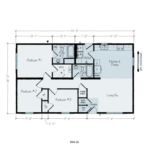 Floorplan of Wayne