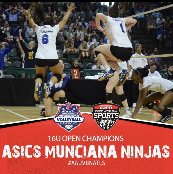 Munciana 16 Open Ninjas celebrate winning nationals
