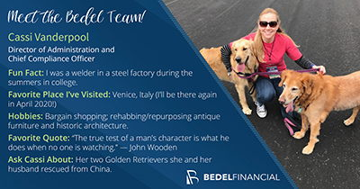 Meet Cassi Vanderpool | Director of Administration | Bedel Financial