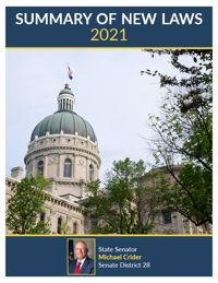 2021 Summary of New Laws - Sen. Crider