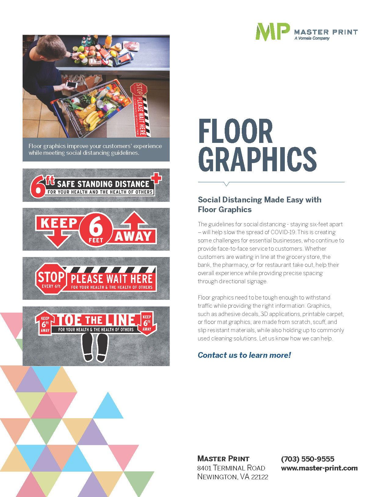 Printing FAQ Floor Decal