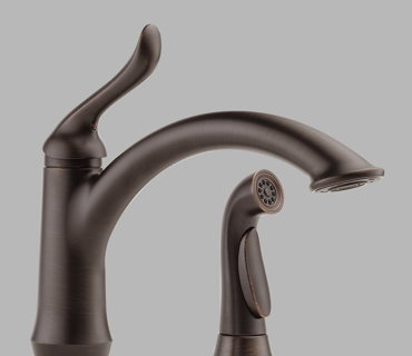 Single Handle Kitchen Faucet with Spray – Oil Rubbed Bronze