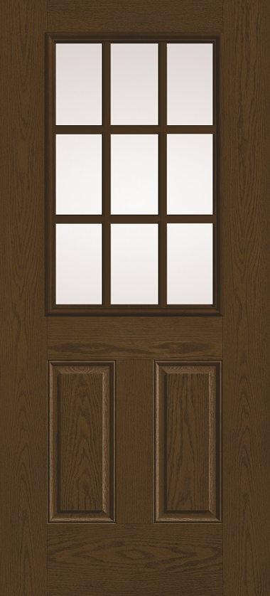 THERMA TRU NINE LIGHT WOOD GRAIN DOOR