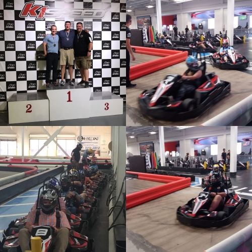 Image of people go karting