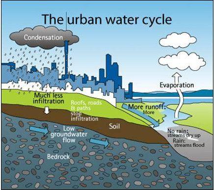 Urban water cycle image