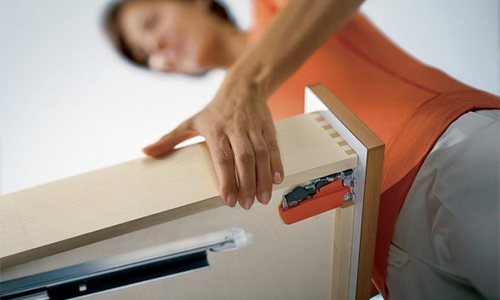 under-mount track drawer