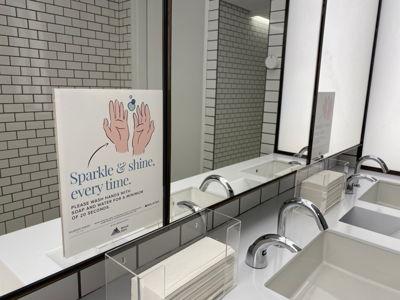 Wash Hands Bathroom Sign