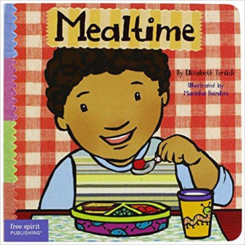 mealtime book cover little cartoon boy eating