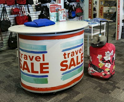 The Container Store Travel Sale Counter Wrap