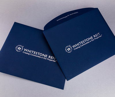 Folder with Die Cut Insert