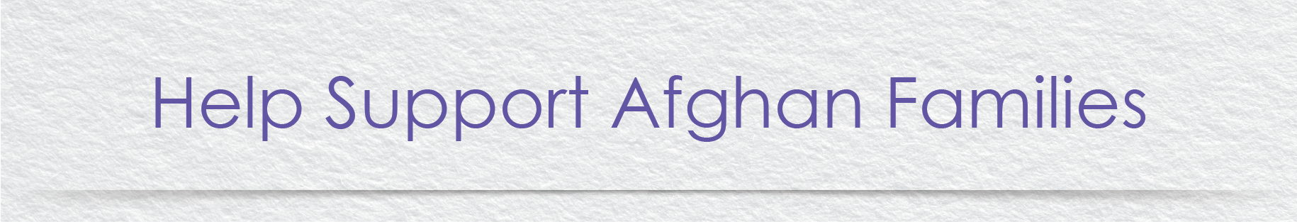 Help Support Afghan Families