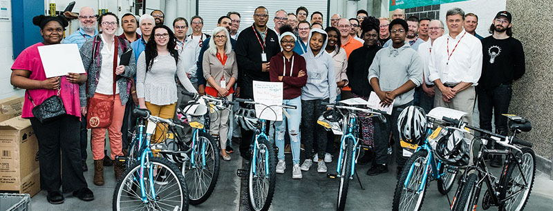 Image for Team Building Event Donates Bikes to YMCA