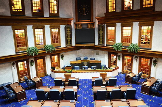 Image of the Indiana Senate Chamber