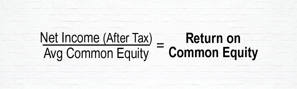 Equation to Determine Common Equity