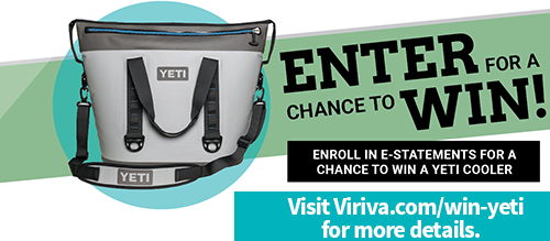 Yeti Cooler, with text 'Enter for a chance to win'
