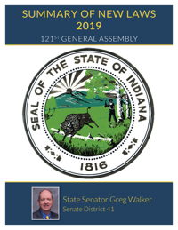 2019 Summary of New Laws - Sen. Walker