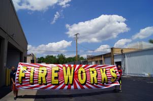 Image of Banner Fireworks 5x20 Vinyl