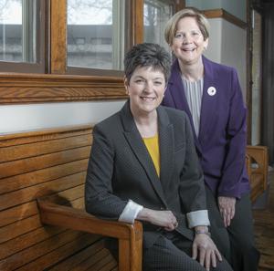 Kelly Shrock, president, and Carol Seals, Board Chair