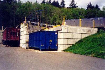 Garbage Transfer Station Utilizing Ultrablock