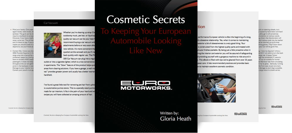 COSMETIC SECRETS TO KEEPING YOUR EUROPEAN AUTOMOBILE LOOKING LIKE NEW