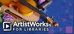 ArtistWorks for Libraries banner ad
